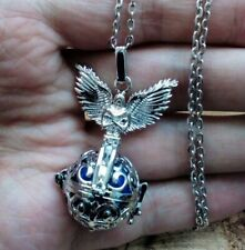 Archangel Michael Angel Caller with Gold sound Ball - pendant necklace