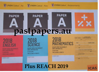 ICAS Paper A Year 3 Set + REACH 2019 - (total 71 papers) Fast e-delivery