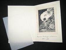 Exlibris Ida Falk , Marianne Steinberger-Hitschmann 1887-1919 Jugendstil Page