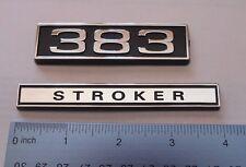 383 STROKER  black plastic with Chrome   emblem emblems badge new