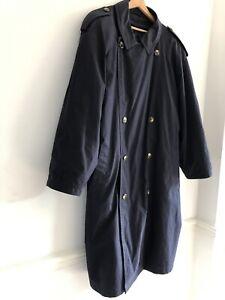 Aquabury London Men's Navy Trench Coat Size Large