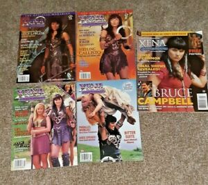 XENA WARRIOR PRINCESS # 1 -2 - 3 & 4 with pinup's  Topps Magazine & # 16 2001