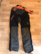 Sthil Advance forest wear hi Flex Chainsaw Trousers class 1 Size Small