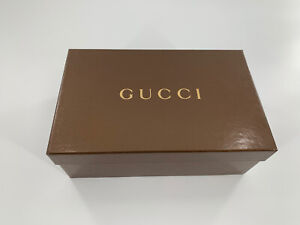 """Gucci Empty Shoe Gift Box Brown Size 11.5""""L x 7""""W With Gucci Booklet"""