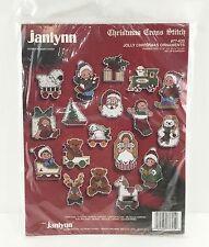Janlynn Christmas Ornaments Cross Stitch Kit Santa Elf Snowman Present Tree