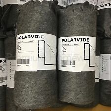2 x IKEA POLARVIDE Grey Throws for Sofa - 130x170cm