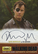 The Walking Dead Season 4/1 Black Autograph Card DM1 David Morrissey As Governor
