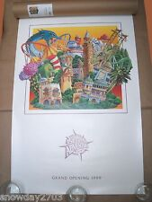 1999 Universal Studios Islands Of Adventure Grand Opening Poster With Tube