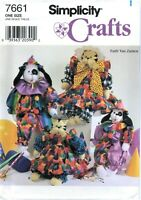 Simplicity Crafts 7661 Cat Dog Doll Body Clothes sewing pattern Zanten UNCUT FF