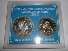 "- INDIA - 2 COIN  UNC. SET - "" INDIRA GANDHI "" -1917-1984 -RS.100+20"
