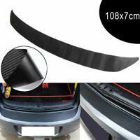 Auto Sill Scuff Cover Trunk Protection Strip Car Plate Sticker 3D Carbon Fiber