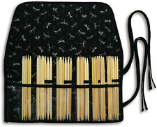 """Kinki Amibari Double Point Knitting Needle Set - 5 pieces each of 12 sizes, 6"""""""