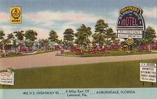 Postcard Chandlers Rainbow Drive Motel Auburndale FL