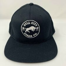 Bull City Cigar Co. 110 One Ten Black Adjustable Snapback Hat Flexfit Tech