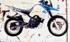 Suzuki DR750S 1988 Aged Vintage SIGN A4 Retro