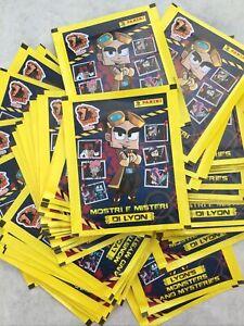 LYON MOSTRI E MISTERI  50 BUSTINE FIGURINE&CARDS VERS. PROMO PANINI!OTTIMO PROD.