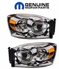 For Dodge Ram 1500 2500 3500 Pair Set of Left & Right Headlight Assemblies Mopar