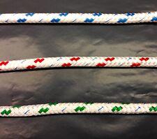 8mm braid on braid per mtr same shipping any amount (black fleck only)