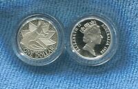 1988 SILVER Proof $1  Australia Kangaroo Coin out of Masterpieces Set
