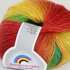 Sale New Soft Cashmere Wool Rainbow Wrap Shawl DIY Hand Knit Yarn 1 ball x50g 10