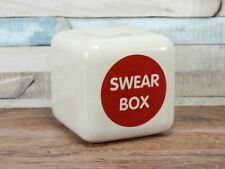 Ceramic Cubed Swear Box With Scale of Charges Money Box Gift