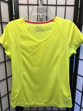Women's Xersion Neon Yellow Short Sleeve Quick Dri Shirt M Medium B6