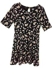 Old Navy Girl's Black Flowery Cotton Dress size ( XS 5) Short sleeves NWT