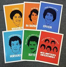 1976 WELCOME BACK KOTTER FOLDER SET (6) SWEATHOGS EPSTEIN HORSHACK BARBARINO ++