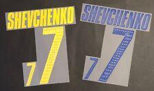 SHEVCHENKO UCRAINA NOME+NUMERO UFFICIALE FIFA WC 2006 OFFICIAL NAMESET PLAYER SZ