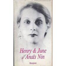 ANAIS NIN - Henry & June - LIBRO 1987 USATO BUONE CONDIZIONI