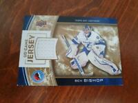 UD Game Jersey Special Edition Hockey Hall of Fame card  BEN BISHOP