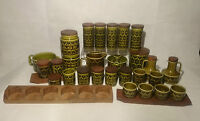 Vintage Retro Hornsea Heirloom Green Pottery Collection - 1970's