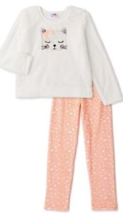 NWT kitty cat cozy mink fur pajamas 8 birthdays christmas btween leopard diva