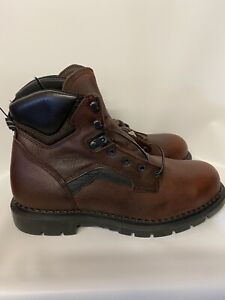 Red Wing Men's Leather Steel Toe BROWN  Work Boots Size 12 ASTM F2413-05 New