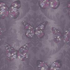 Midsummer EN MORADO CIRUELA Brillo Mariposa Papel Pintado Por Arthouse 661205