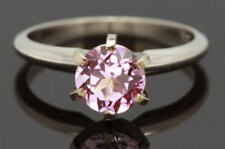 2ct Natural Pink Sapphire VS 14K Solid White Gold Engagement Ring Diamond Altern