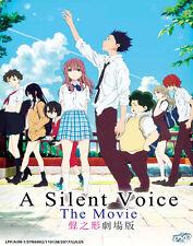 DVD Japanese Anime Movie A Silent Voice The Movie / Koe no Katachi + Free Gift