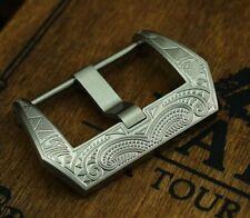 Edle Schließe Buckle 20mm  f. Lederbänder Uhrenarmbänder Canvas Bänder Straps