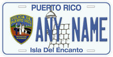 Puerto Rico Police Policia Any Name Number Novelty Car License Plate