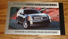 2004 Cadillac SRX Exterior & Interior Color Selections Brochure 04