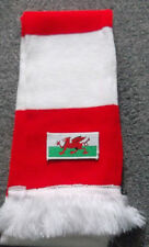 WALES RED AND WHITE BAR SCARF