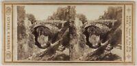 Sorrento Pont Italia Sommer & Behles Foto Stereo L53S1n25 Vintage Albumina