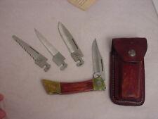 "Vintage Case XX USA XX Changer 5"" 4-blade Lockback Knife & Sheath"