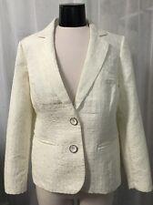 Chico's Sephia Ivory Crock Lined Women's Blazer Chico's Size 1 (8) NWT $129