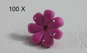 LEGO® Dark Pink Friends Flower 7 Thick Petals [100 Pieces] [ID 32606 ]