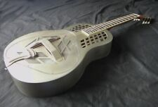 More details for tricone tri-cone resonator guitar - 'vintage' steel finish