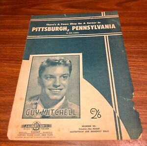 """Vintage 1952 """"THERE'S A PAWN SHOP ON A CORNER IN PITTSBURGH, PENNSYLVANIA"""""""