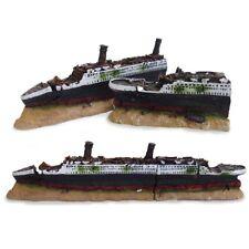40cm Boat Ship Wreck Shipwreck Aquarium Fish Tank Ornament Hiding Cave Decor