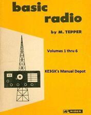 Basic Radio Volumes 1 thru 6 * 1961 * CDROM * PDF * Rider Publication