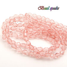 40 pcs 7×5 mm Small Bright Pink Faceted Teardrop Glass Crystal Beads CS215